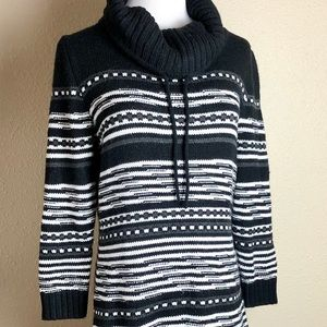 Maurices Black and White sweater dress w/ slip